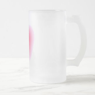 "Pink Heart ""Frosted"" Mug"
