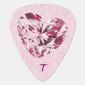 Pink Heart Gem Guitar Pick