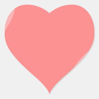Pink Heart Heart Sticker