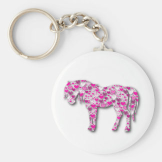 Pink - Heart Horse Key Ring