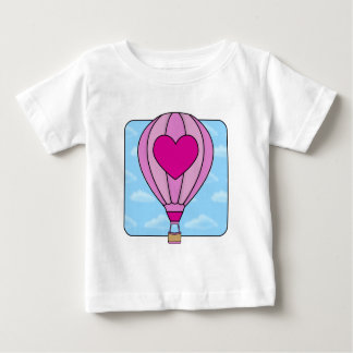 Pink Heart Hot Air Balloon T-Shirt