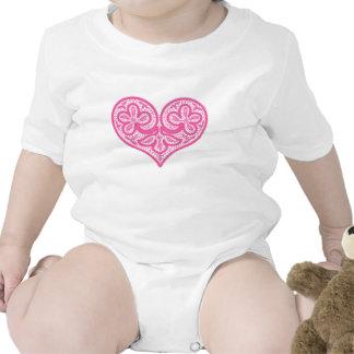 Pink Heart Infant Creeper