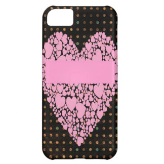 pink heart iphone 5c case