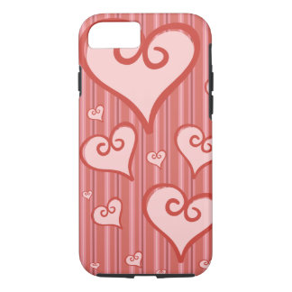 Pink Heart iPhone 7Case Tough iPhone 7 Case