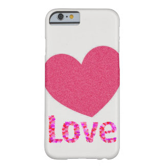 pink heart love iphone case barely there iPhone 6 case