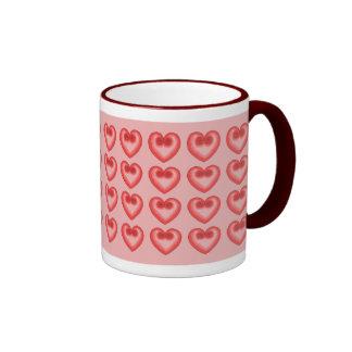 Pink Heart Love Mug