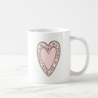Pink Heart Coffee Mugs