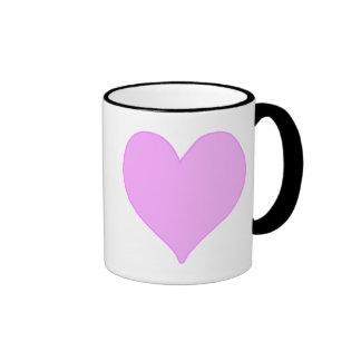 Pink Heart Ringer Mug