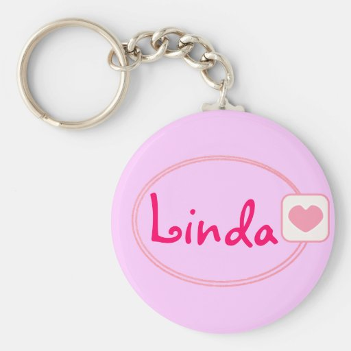 pink heart named keychain