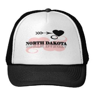 Pink Heart North Dakota Cap