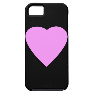 Pink Heart on Black. iPhone 5 Case