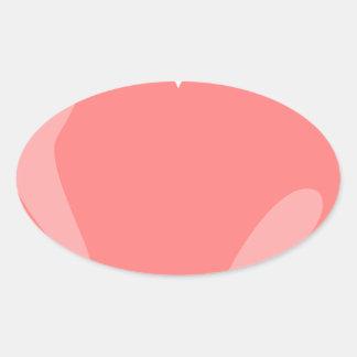 Pink Heart Oval Sticker