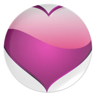 Pink Heart Party Plates
