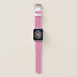 Pink Heart Pattern Apple Watch Band