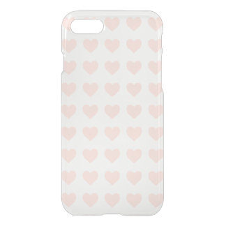 Pink heart pattern iPhone 8/7 case