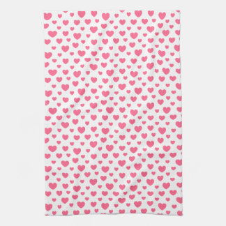 Pink heart pattern hand towels