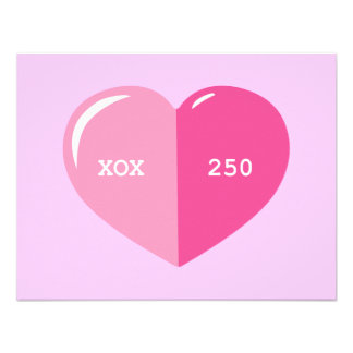 Pink Heart Pill Capsule Custom Announcements