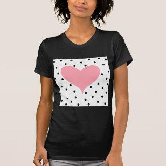 Pink Heart Polka Dots T-shirts