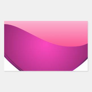 Pink Heart Rectangular Sticker