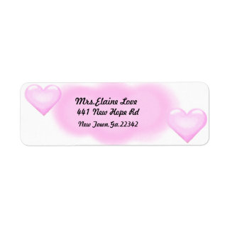 Pink Heart Return address Lables Return Address Label