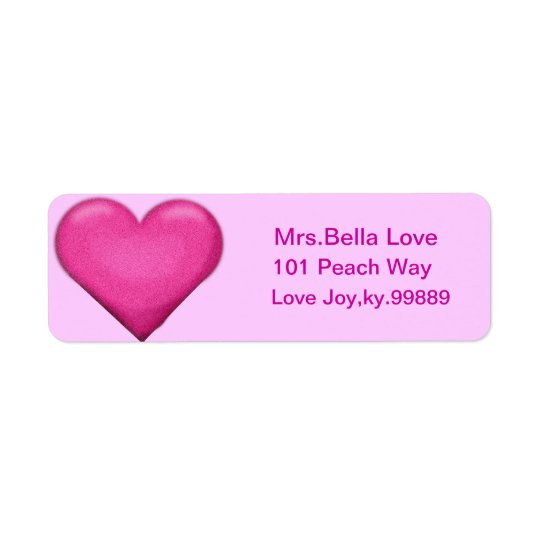 Pink Heart Return address Lables Return Address Label