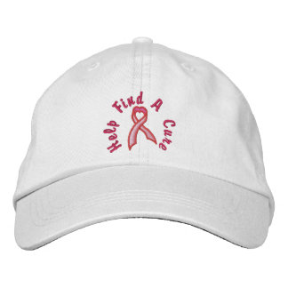 Pink Heart Ribbon - Find a Cure Cap