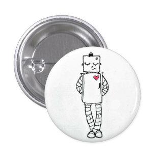 Pink Heart Robot Button