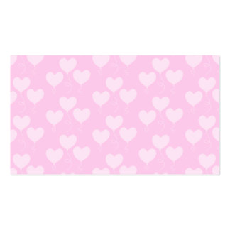 Pink Heart Shaped Balloons Pattern. Pack Of Standard Business Cards