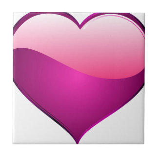 Pink Heart Small Square Tile