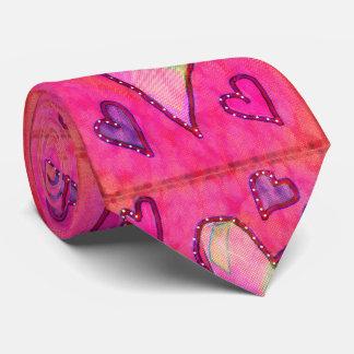 pink heart tie