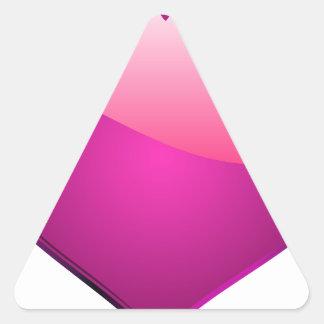 Pink Heart Triangle Sticker