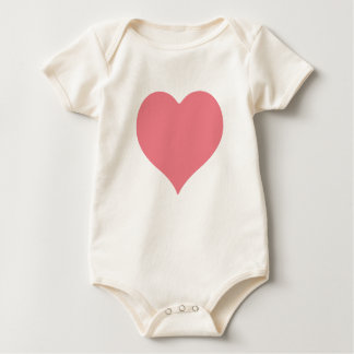 Pink Heart Baby Bodysuits