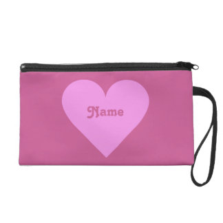 Pink Heart Valentine custom accessory bags