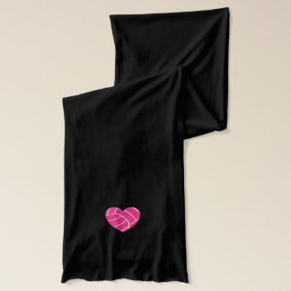 Pink Heart Volleyball Scarf