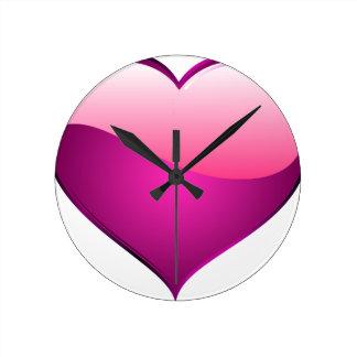 Pink Heart Wall Clocks