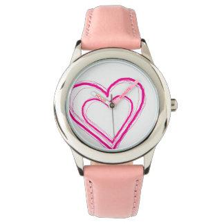 Pink Heart Watch