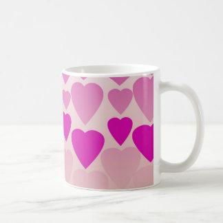 Pink Hearts 11 oz Mug