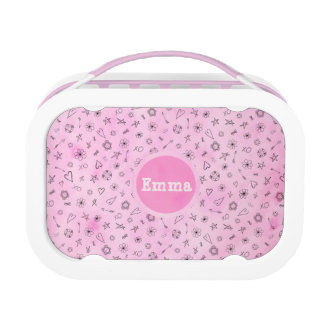 Pink Hearts and Stars personalized box