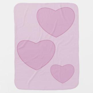 Pink Hearts Baby Blanket