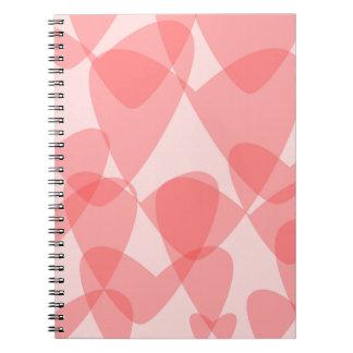 Pink Hearts Background Spiral Notebook