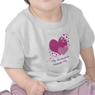 Pink Hearts Bubbles and Polka Dots Love Tee Shirt