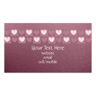 Pink Hearts Business Card