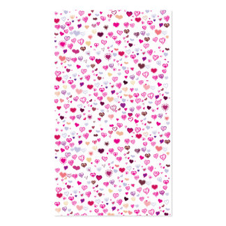 Pink Hearts. Business Card Template