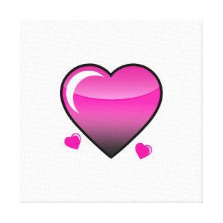 Pink Hearts Gallery Wrapped Canvas