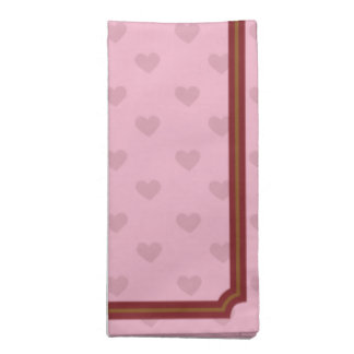 Pink Hearts Cloth Napkin