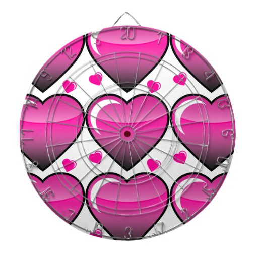 Pink Hearts Dartboards