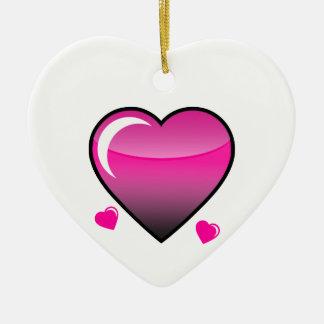 Pink Hearts Ornament