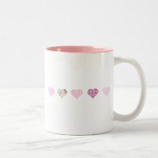 Pink Hearts Design Mugs