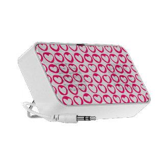 Pink hearts Doodle Speakers