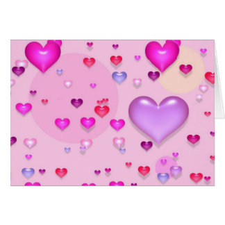 Pink hearts for the St. Valentine's day - Card
